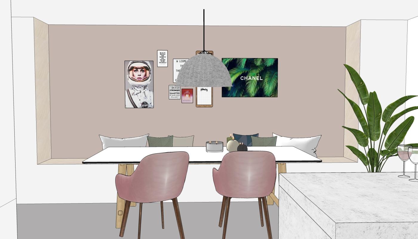 JaimyInterieur - ontwerp eetkamer