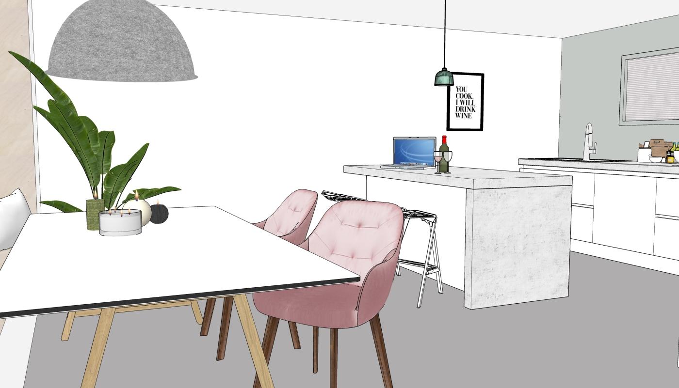 JaimyInterieur - ontwerp eetkamer:keuken