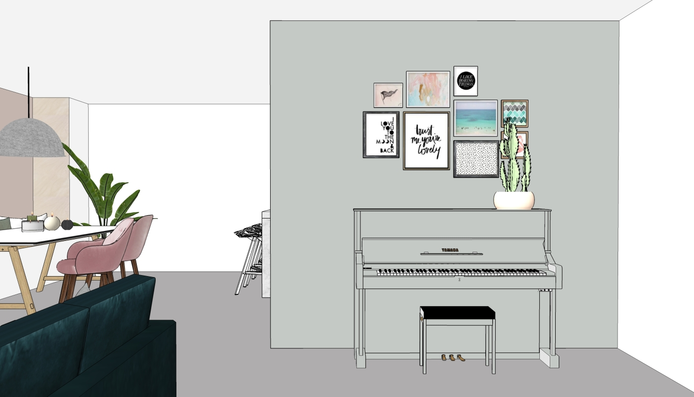 JaimyInterieur - ontwerp pianohoek