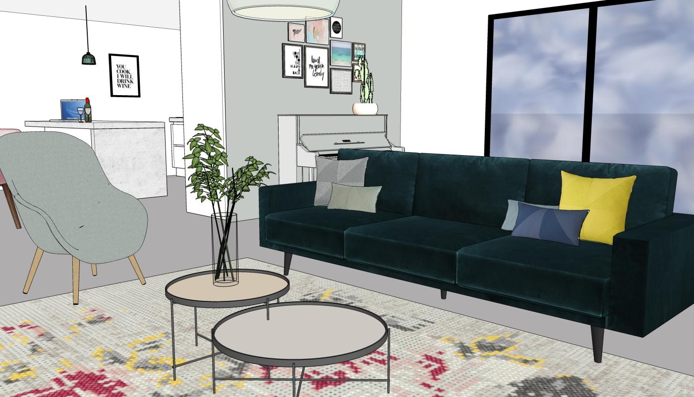JaimyInterieur - ontwerp woonkamer - 2