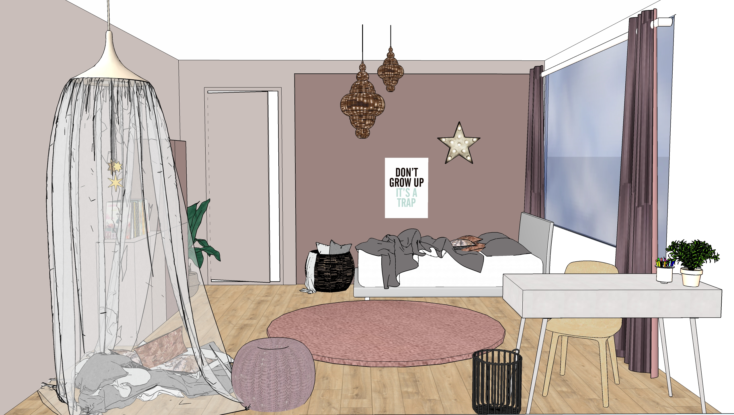 Meidenkamer rotterdam u jaimy interieur design